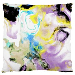Watercolour Watercolor Paint Ink Large Flano Cushion Case (two Sides) by BangZart