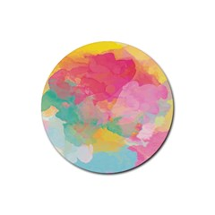 Watercolour Gradient Rubber Round Coaster (4 Pack)