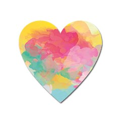 Watercolour Gradient Heart Magnet