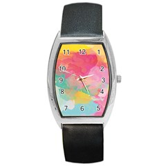 Watercolour Gradient Barrel Style Metal Watch