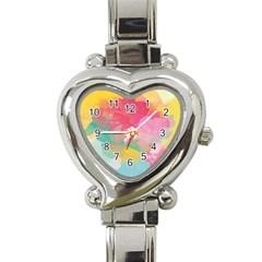 Watercolour Gradient Heart Italian Charm Watch