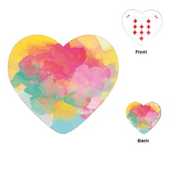 Watercolour Gradient Playing Cards (heart)