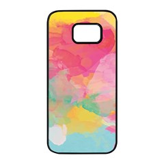 Watercolour Gradient Samsung Galaxy S7 Edge Black Seamless Case