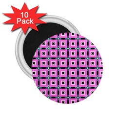 Pattern Pink Squares Square Texture 2 25  Magnets (10 Pack)