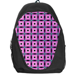 Pattern Pink Squares Square Texture Backpack Bag