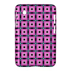 Pattern Pink Squares Square Texture Samsung Galaxy Tab 2 (7 ) P3100 Hardshell Case  by BangZart
