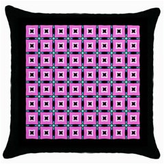 Pattern Pink Squares Square Texture Throw Pillow Case (black)