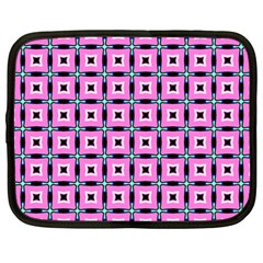 Pattern Pink Squares Square Texture Netbook Case (large)
