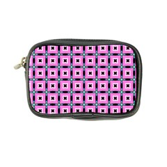 Pattern Pink Squares Square Texture Coin Purse