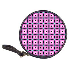 Pattern Pink Squares Square Texture Classic 20 Cd Wallets