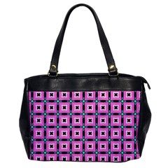 Pattern Pink Squares Square Texture Office Handbags