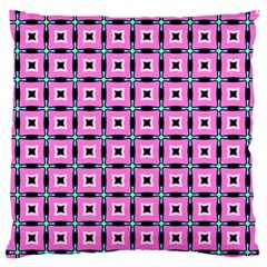 Pattern Pink Squares Square Texture Standard Flano Cushion Case (one Side)