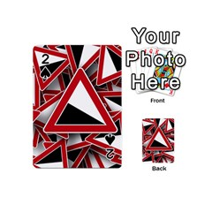 Road Sign Auto Gradient Down Below Playing Cards 54 (mini)