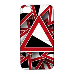 Road Sign Auto Gradient Down Below Apple Iphone 4/4s Hardshell Case With Stand