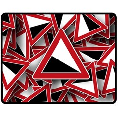 Road Sign Auto Gradient Down Below Double Sided Fleece Blanket (medium)  by BangZart