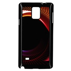 Grid Bent Vibration Ease Bend Samsung Galaxy Note 4 Case (black) by BangZart