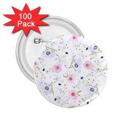 Floral Pattern Background 2 25  Buttons (100 Pack)  by BangZart