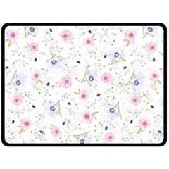 Floral Pattern Background Double Sided Fleece Blanket (large)