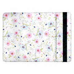 Floral Pattern Background Samsung Galaxy Tab Pro 12 2  Flip Case