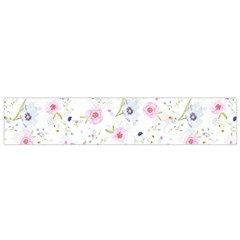 Floral Pattern Background Small Flano Scarf