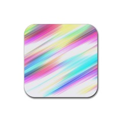 Background Course Abstract Pattern Rubber Square Coaster (4 Pack)