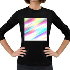 Background Course Abstract Pattern Women s Long Sleeve Dark T Shirts