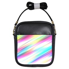 Background Course Abstract Pattern Girls Sling Bags