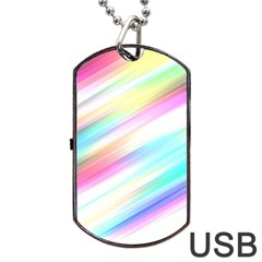 Background Course Abstract Pattern Dog Tag Usb Flash (one Side)