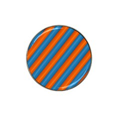 Diagonal Stripes Striped Lines Hat Clip Ball Marker (4 Pack)