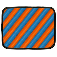 Diagonal Stripes Striped Lines Netbook Case (xl)  by BangZart