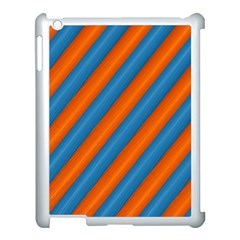 Diagonal Stripes Striped Lines Apple Ipad 3/4 Case (white)