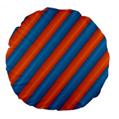Diagonal Stripes Striped Lines Large 18  Premium Round Cushions