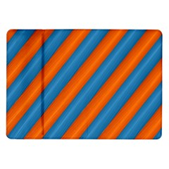 Diagonal Stripes Striped Lines Samsung Galaxy Tab 10 1  P7500 Flip Case