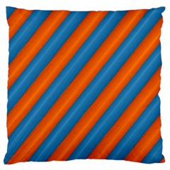 Diagonal Stripes Striped Lines Large Flano Cushion Case (one Side)