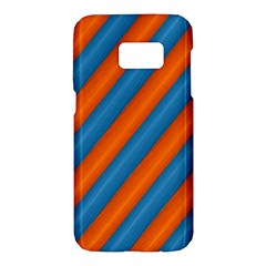 Diagonal Stripes Striped Lines Samsung Galaxy S7 Hardshell Case