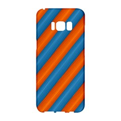 Diagonal Stripes Striped Lines Samsung Galaxy S8 Hardshell Case