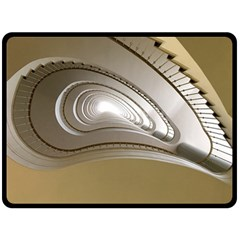 Staircase Berlin Architecture Double Sided Fleece Blanket (large)
