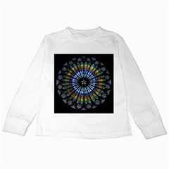 Rose Window Strasbourg Cathedral Kids Long Sleeve T Shirts