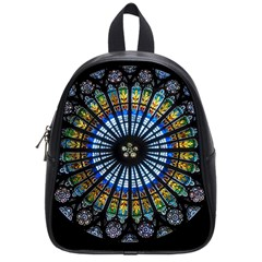 Rose Window Strasbourg Cathedral School Bag (small) by BangZart