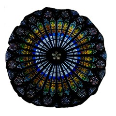 Rose Window Strasbourg Cathedral Large 18  Premium Round Cushions by BangZart