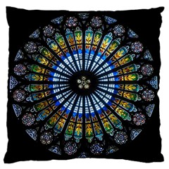 Rose Window Strasbourg Cathedral Standard Flano Cushion Case (two Sides) by BangZart