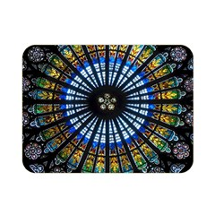 Rose Window Strasbourg Cathedral Double Sided Flano Blanket (mini)