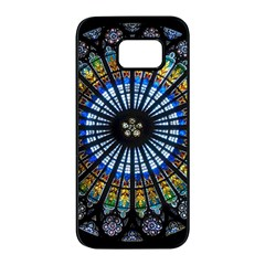 Rose Window Strasbourg Cathedral Samsung Galaxy S7 Edge Black Seamless Case