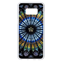 Rose Window Strasbourg Cathedral Samsung Galaxy S8 Plus White Seamless Case