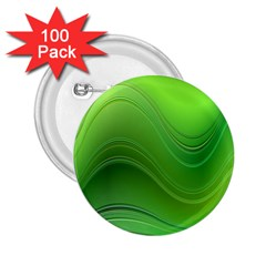 Green Wave Background Abstract 2 25  Buttons (100 Pack)
