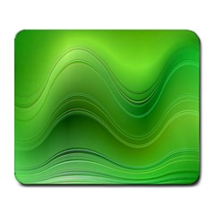 Green Wave Background Abstract Large Mousepads