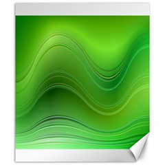 Green Wave Background Abstract Canvas 20  X 24