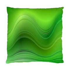 Green Wave Background Abstract Standard Cushion Case (one Side)