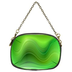 Green Wave Background Abstract Chain Purses (two Sides)