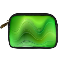 Green Wave Background Abstract Digital Camera Cases